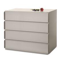 Cassettone moderno / in legno laccato / in MDF laccato / in lamiera