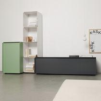 Credenza moderna / in alluminio / in MDF laccato / in lastra