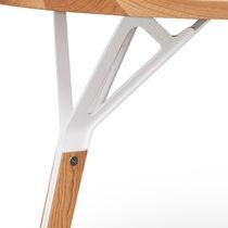 Piede da tavolo in metallo laccato / in legno / moderno / per uso residenziale
