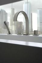 Miscelatore doppio comando per vasca / da bancone / in nichel / in metallo cromato