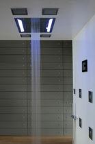 Soffione doccia da incasso a soffitto / rettangolare / a cascata / pioggia
