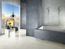 Piastrella da bagno / da parete / in gres porcellanato / motivi floreali