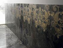 Piastrella da parete / in gres porcellanato / a motivi / a rilievo