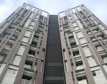 Rivestimento di facciata in ceramica / liscio / aspetto metallo / per facciata ventilata