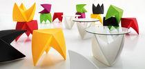 Tavolo d'appoggio design originale / in vetro / in ABS / in PMMA