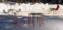 Tavolo moderno / in HPL / quadrato / da giardino