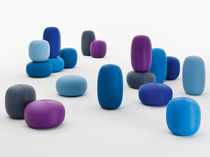Pouf design originale / in plastica / luminoso / rotondo