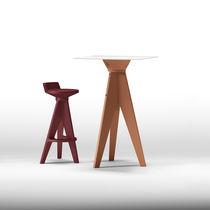 Tavolo alto moderno / in plastica / in laminato / quadrato
