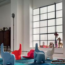 Sgabello design originale / in plastica / per bambini / blu