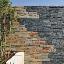 Lastra di paramento in pietra ricostituita / per esterni