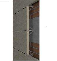 Sistema di fissaggio metallo / in acciaio inox / per rivestimento di facciata / per facciata ventilata