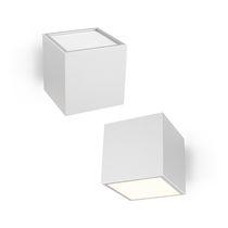 Applique moderna / da esterno / in alluminio / in vetro