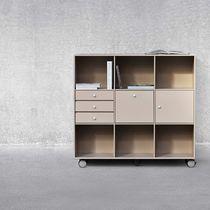 Scaffale con rotelle / moderno / in MDF laccato / per ufficio