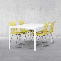 Tavolo da lavoro moderno / in laminato / in alluminio / rettangolare