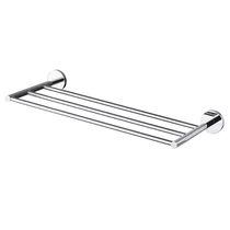 Portasalviette a 3 barre / da parete / in acciaio inox / in cromo