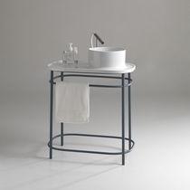 Supporto per lavabo in metallo / in ceramica