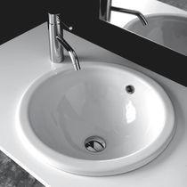 Lavabo da incasso / rotondo / in ceramica / moderno