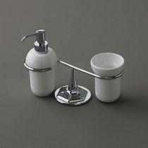 Distributore di sapone da appoggio / in ceramica / manuale