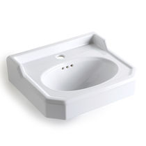 Lavabo sospeso / rettangolare / in ceramica / tradizionale