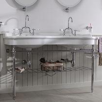 Lavabo doppio / sospeso / in ceramica / in metallo