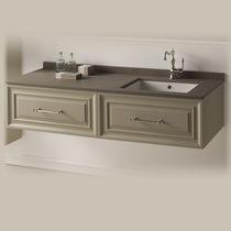 Mobile lavabo sospeso / in MDF / in ceramica / moderno