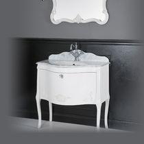 Mobile lavabo sospeso / in MDF / in stile / con specchio