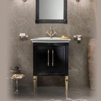 Mobile lavabo da appoggio / in legno / classico / con armadietto integrato