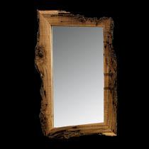 Specchio a muro / moderno / rettangolare / in legno