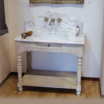 Mobile lavabo da appoggio / in legno / in ceramica / classico