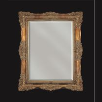 Specchio da bagno a muro / in stile / rettangolare / in metallo
