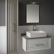 Mobile lavabo sospeso / in MDF / in ceramica / in pietra naturale