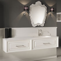Mobile lavabo sospeso / in MDF / in resina / moderno