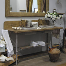 Mobile lavabo da appoggio / in legno / classico