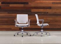 Sedia visitatore moderna / in tessuto / in polipropilene / reclinabile