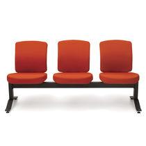 Sedute su barra in tessuto / in metallo / 3 posti / da interno