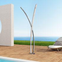 Doccia da esterno per piscina / in acciaio inossidabile