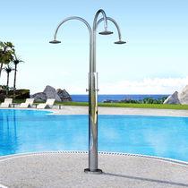 Doccia da giardino per piscina / in acciaio inossidabile
