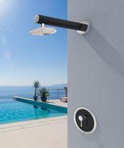 Miscelatore da doccia / da parete / in acciaio inox / in fibra di carbonio