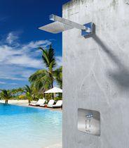 Miscelatore da doccia / da parete / in acciaio inox / da esterno