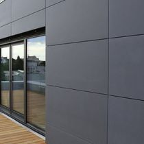 Paramento in pietra naturale / per facciata / grigio / aspetto pietra