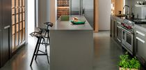 Piano di lavoro in Solid Surface / in pietra naturale / da cucina / resistente al calore