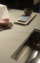 Piano di lavoro in ceramica / da cucina / grigio