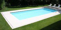 Piastrella per bagnasciuga di piscina / da pavimento / in pietra naturale / a rilievo