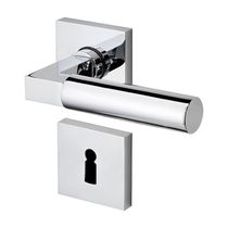 Maniglia per porta / in metallo / moderna / con serratura integrata