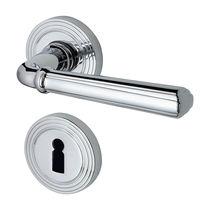 Maniglia per porta / in metallo / classica / con serratura integrata