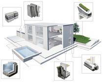Isolante termico / in vetro cellulare / per esterni / per platea