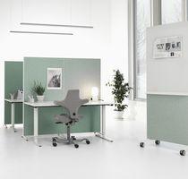 Divisorio per ufficio a pavimento / in feltro acustico / insonorizzato