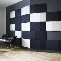 Pannello acustico per interni / per muro interno / a muro / in tessuto