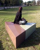 Panca pubblica / moderna / in legno / modulare