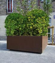 Fioriera in acciaio galvanizzato / quadrata / moderna / per spazi pubblici